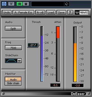 Réglages Waves De-Esseur pour Mixage des Voix