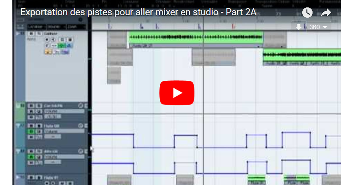 Exportation des pistes avant d'aller mixer en studio – Part 2 et 3