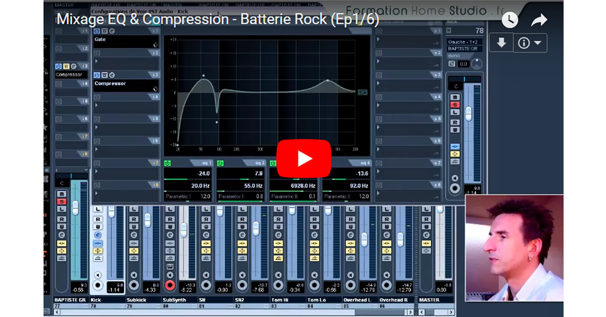 Batterie Rock – Mixage EQ & Compression